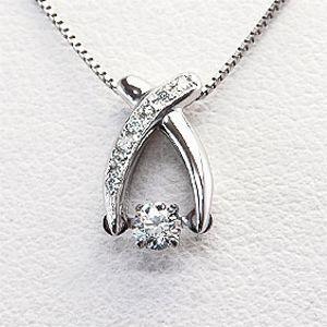 ダンシングストーン Dancing Stone [クロス]【ソーティング付】ダイヤモンドネックレス 0.10ctUP VSup Fカラーup H&C 3EX(メレダイヤモンド 約0.03ct) Pt900/Pt850(プラチナ)【クロスフォー】【送料無料】 10P03Dec16