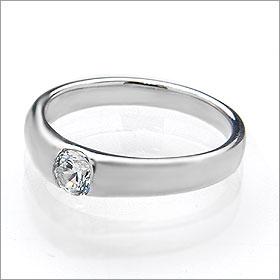婚約指輪 エンゲージリング!  卸直営!ダイヤモンド 0.309ct  Gカラー SI1 EXCELLENT H&C 3EX   プラチナ(Pt900)鑑定書付き ラウンドブリリアント ソリティア 爪なし