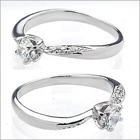 婚約指輪 エンゲージリング卸直営 ダイヤモンド 0 284ctEカラー SI1 EXCELLENT H C 3EXプラチナ Pt900 鑑定書付き ラウンドブリリアント メレ 立て爪ZuOPTXwilk