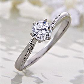 婚約指輪 エンゲージリング! 卸直営!ダイヤモンド 0.312ct Dカラー VS2  プラチナ(Pt900)鑑定書付き ラウンドブリリアント メレ 立て爪