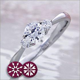婚約指輪 エンゲージリング! 卸直営!ダイヤモンド 0.407ct Gカラー SI1 EXCELLENT H&C  プラチナ(Pt900)鑑定書付き ラウンドブリリアント メレ 立て爪