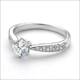 婚約指輪 エンゲージリング!  卸直営!ダイヤモンド 0.235ct  Dカラー IF EXCELLENT H&C 3EX   プラチナ(Pt900)鑑定書付き ラウンドブリリアント メレ 立て爪