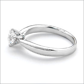 婚約指輪 エンゲージリング!  卸直営!ダイヤモンド 0.327ct  Fカラー VVS2 EXCELLENT H&C 3EX   プラチナ(Pt900)鑑定書付き ラウンドブリリアント ソリティア 立て爪