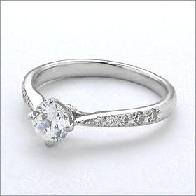 婚約指輪 エンゲージリング!  卸直営!ダイヤモンド 0.245ct  Gカラー VS1 EXCELLENT H&C 3EX   プラチナ(Pt900)鑑定書付き ラウンドブリリアント メレ 立て爪