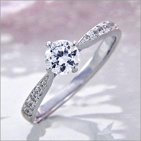婚約指輪 エンゲージリング! 卸直営!ダイヤモンド 0.311ct Gカラー SI2 EXCELLENT プラチナ(Pt900)鑑定書付き ラウンドブリリアント メレ 立て爪
