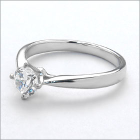 婚約指輪 エンゲージリング!  卸直営!ダイヤモンド 0.238ct  Dカラー SI2 EXCELLENT H&C 3EX   プラチナ(Pt900)鑑定書付き ラウンドブリリアント ソリティア 立て爪