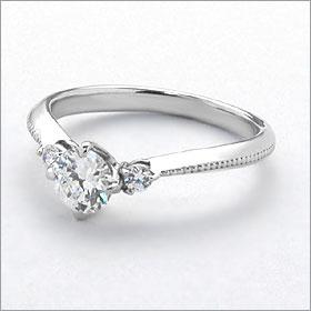 婚約指輪 エンゲージリング!  卸直営!ダイヤモンド 0.214ct  Dカラー VS2 EXCELLENT H&C   プラチナ(Pt900)鑑定書付き ラウンドブリリアント メレ 立て爪