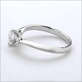 婚約指輪 エンゲージリング!  卸直営!ダイヤモンド 0.221ct  Fカラー SI1 EXCELLENT H&C   プラチナ(Pt900)鑑定書付き ラウンドブリリアント メレ 立て爪