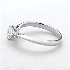 婚約指輪 エンゲージリング!  卸直営!ダイヤモンド 1.035ct  Dカラー IF EXCELLENT H&C 3EX   プラチナ(Pt900)鑑定書付き ラウンドブリリアント メレ 立て爪