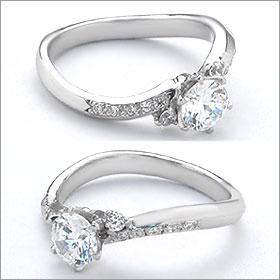 婚約指輪 エンゲージリング!  卸直営!ダイヤモンド 0.274ct  Gカラー VVS2 EXCELLENT H&C 3EX   プラチナ(Pt900)鑑定書付き ラウンドブリリアント メレ 立て爪