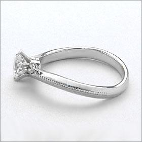 婚約指輪 エンゲージリング!  卸直営!ダイヤモンド 0.243ct  Fカラー VVS2 EXCELLENT H&C 3EX   プラチナ(Pt900)鑑定書付き ラウンドブリリアント メレ 立て爪