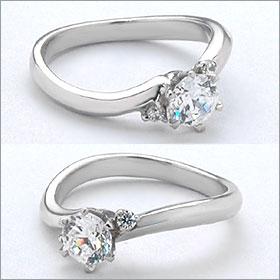 婚約指輪 エンゲージリング!  卸直営!ダイヤモンド 0.275ct  Eカラー VVS2 EXCELLENT H&C 3EX   プラチナ(Pt900)鑑定書付き ラウンドブリリアント メレ 立て爪