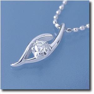 ペンダントネックレスダイヤモンド0.05ctK18WG(ホワイトゴールド)(プチネックレス)【送料無料】 10P03Dec16