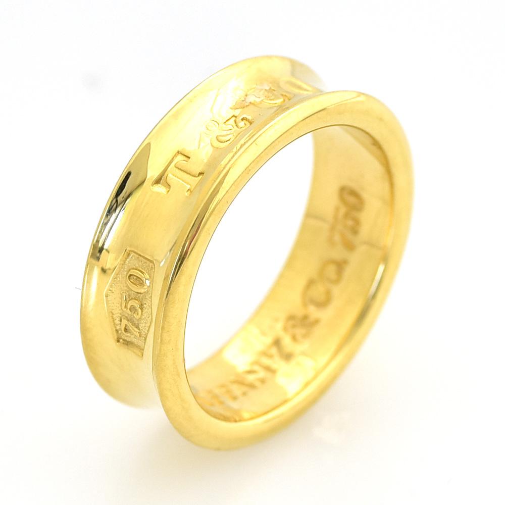 ティファニー TIFFANY&CO. 1837ナローリング 指輪 K18 9号 【中古】 【送料無料】