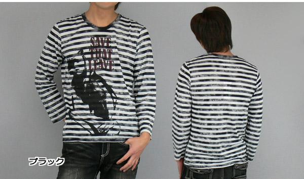 CLONE DEVGRU uneven dye border girl print 8-sleeves T shirt