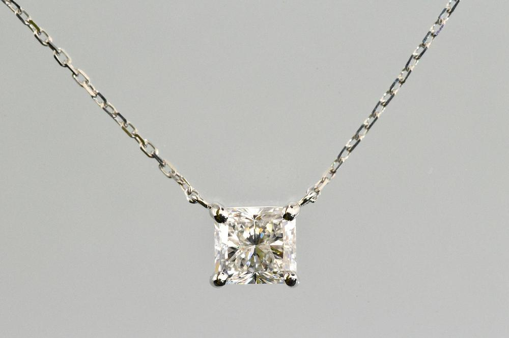 com necklace bezel solitaire diamond amazon in carat dp platinum