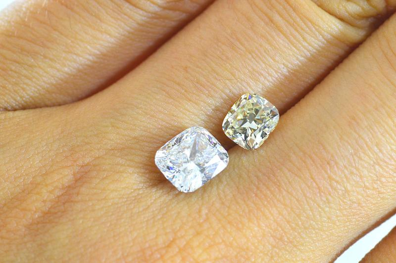 Almost 2 Carat Cushion Cut Diamond D Color Vs1 Customers Please Shine More  Than White Is