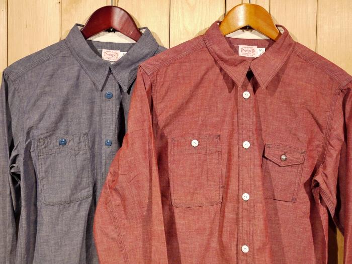 TROPHY CLOTHING トロフィークロージング MACHINE AGE CHAMBRAY SHIRTS シャンブレーシャツ