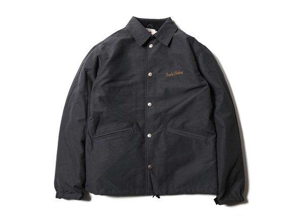 TROPHY CLOTHING トロフィークロージング BOXLOGO WARM JACKET チャコール コーチジャケット