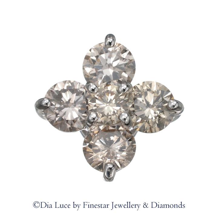 【送料無料】【0.5ct UP Diamond Pendant】【TV通販QVCで大人気!!】 ペンダント ネックレス K18 ホワイトゴールド Dia Luce by FINE STAR Jewellery & Diamondsディアルーチェ ファインスター 【デビアスサイトホルダー直販】