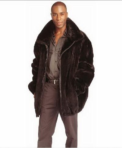オーダーメイド毛皮コート 最高級ROYAL SAGAミンク メンズファー