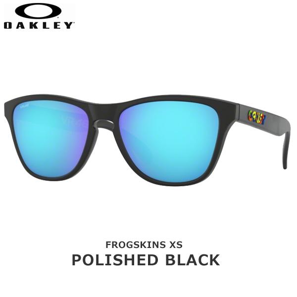 オークリー サングラス カジュアル フロッグスキン OAKLEY FROGSKINS XS フレーム:Polished Black レンズ:Prizm Sapphire 女性向け