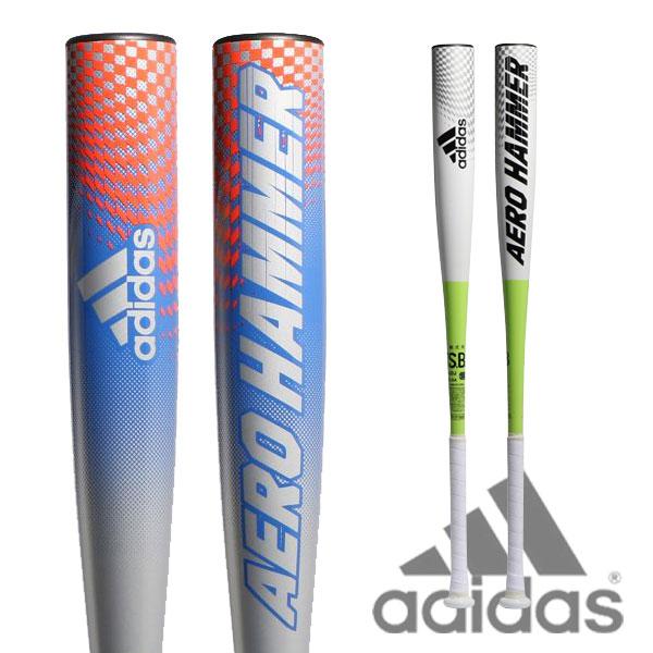 軟式 バット 野球 adidas アディダス エアロハンマー AERO HAMMER トップバランス カーボン GLJ79 あす楽
