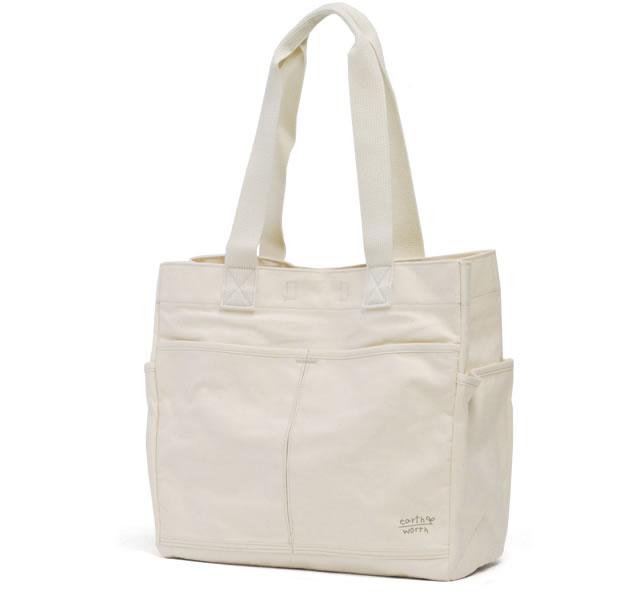 가방 여성용 큰 a4 유기농 면화 직물 화포 일본 제 < 루이스 > earth worth アースワース 대용량 무지 단순 자립 도요 오카 유기농 코 튼 100% BIG 사이즈 에코 エコサート | (토트 백 가방 예쁜 30 대)