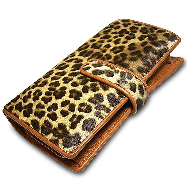 ≪名門タンナーABIP高級ハラコ≫イタリアレザー2つ折り手帳型財布