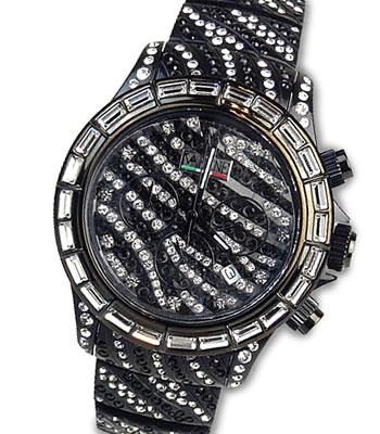 クーポン配布中★VABENE ヴァベーネ イタリア腕時計VA BENE腕時計ゼブラフェイス&スワロフスキー <クロノグラフ>