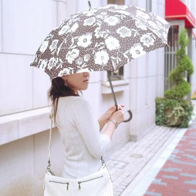 【Nouvel Japonais】 日傘 晴雨兼用 ドット 花柄 ショート日傘 <ナデシコ> 日本製 レディース かわいい おしゃれ ギフト