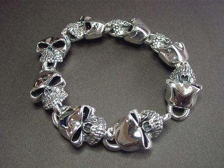 Skull Bracelet Stering Silver 925 Accessories Brand Dice