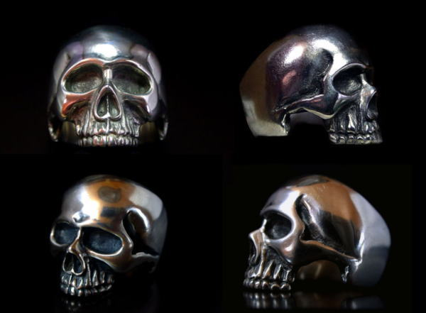 ◆Death bone Skull ring キーススカルリング/アクセサリー シルバーリングメンズアクセサリー レディース