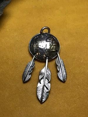 インディアンコイン フェザー3点吊りTop