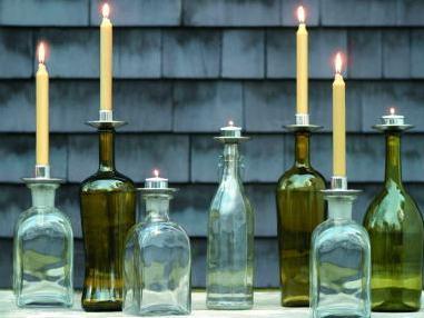 キャンドルホルダー ワインボトルがホルダーに 数量は多 在庫処分 セール セール特別価格 キャンドルホルダーBottelabra Taper Northern ボトラブラ Candles Lights テーパータイプ ノーザンライツキャンドルズ思い出のワインボトルがホルダーに