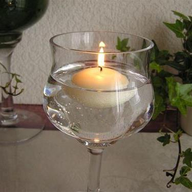キャンドル 結婚式 無香料 インテリア ろうそく キャンドルナイト プール50 結婚式やイベントに Candle フローティング アイボリー 販売 Floating 秀逸 12個セット