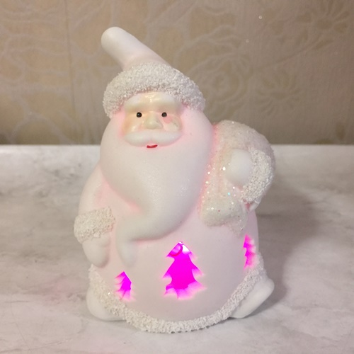 LED セール価格 サンタクローズ 陶器 送料無料限定セール中 クリスマスの演出に クリスマス雑貨 クリスマスシーズンの飾りに お店のディスプレーに LEDライトが光るサンタの置物 ライトアップサンタ ツリー