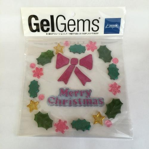 ディスプレイグッズ クリスマス デコレーション 窓ガラス 鏡 セール ゼリーのような質感 リース 窓ガラスや鏡に 新商品 宝石のような美しい発色 バッグS ファッション通販 ジェルジェム