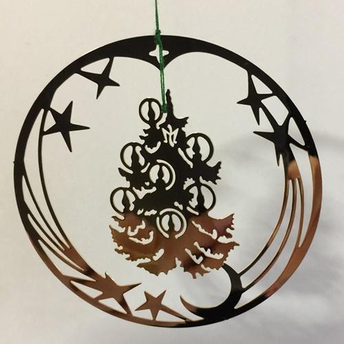 雑貨 インテリア小物 アドベント クリスマスの演出に クリスマス雑貨 オーナメント ゴールド ツリー ゴールドの輪の中にクリスマスツリー 豪華な 新作通販 キャンドル ゴージャスなオーナメント