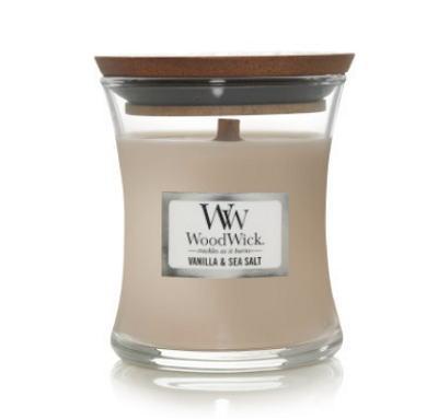 キャンドル ガラス アロマ ウッドウィック 癒し 暖炉 ろうそく WoodWick 迅速な対応で商品をお届け致します S Jar フレグランス ジャーキャンドルSバニラ グラスキャンドル 木の芯キャンドル シーソルト 感謝価格