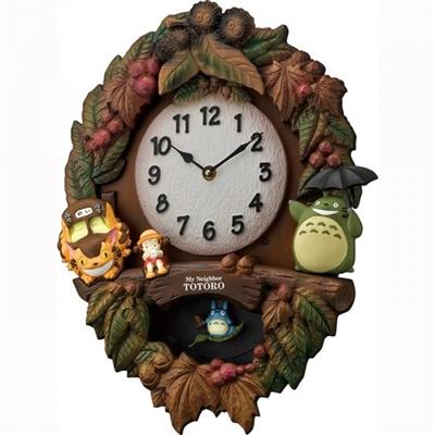 リズム時計 キャラクタークロック トトロ M429 06茶色ボカシ仕上 4MJ429-M06