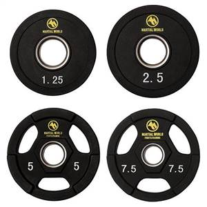 ポリウレタンオリンピックバーベルセット 190kg UB190※2019年5月下旬入荷分予約受付中