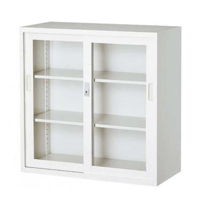 オフィス向け 一般書庫・ベース ホワイト 3×3型引違書庫 3号ガラス戸 COM-303G-W