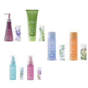NECA (nekur) 植物园加护肤药痤疮洗脸,4 件套