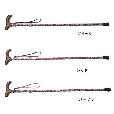 KINDCARE 花柄おしゃれステッキ(テーブルフック付)