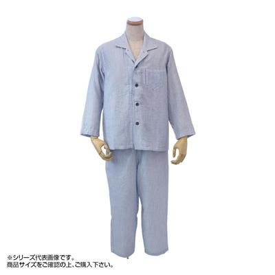 内野 uchino マシュマロガーゼストライプメンズパジャマ LA RPZ18028 DB(ダークブルー)