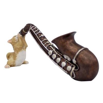 可愛い猫のインテリア キーストーン 数量限定アウトレット最安価格 FOREST BOOKWORM FOBOCASA キャット サックス 公式