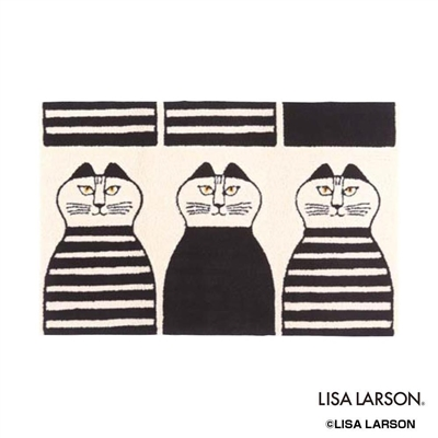 LISA LARSON(リサラーソン) ミンミ ラグ 90×140cm IV・アイボリー QB130205