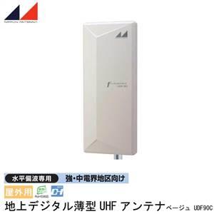 日本アンテナ 屋外用 地上デジタル薄型UHFアンテナ 水平偏波専用 強・中電界地区向け ベージュ UDF90C