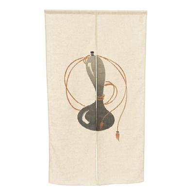 川島織物セルコン KSオリジナル 和のれん 千成ひょうたん 85×150cm EL1001 GR グレー